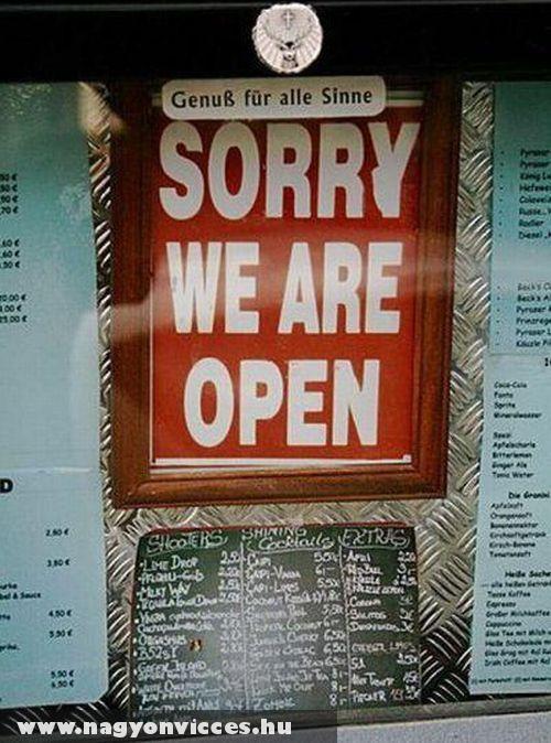 Bocsi nyitva vagyunk