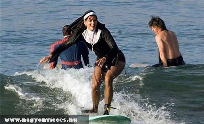Szörfözõ apáca