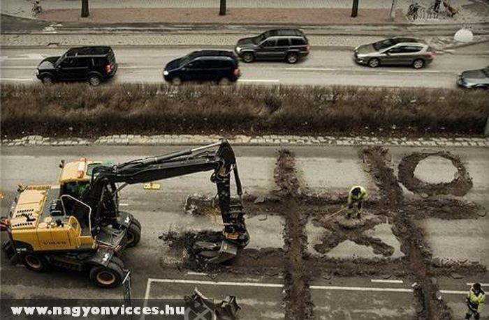 Unatkozó építõ munkások