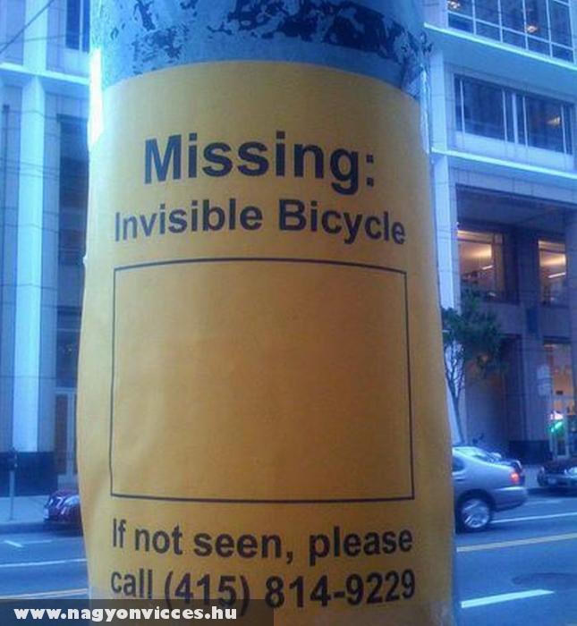 Elveszett: a láthatatlan bicikli