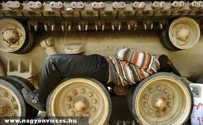 Megpihent a jó munkás ember