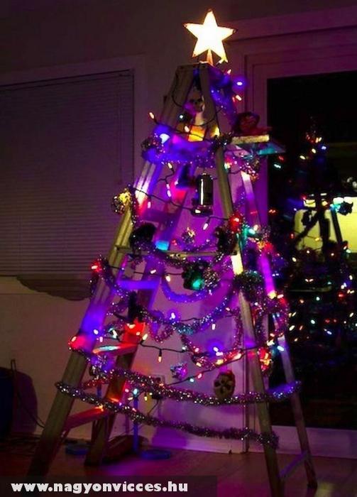 Karácsonyfa helyett létra