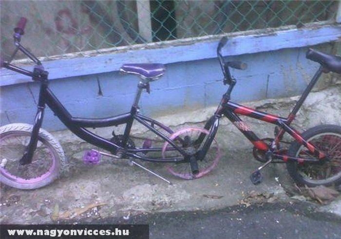 Házi tandem bicikli