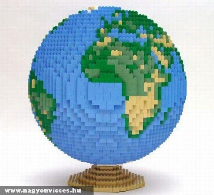 Lego földgömb