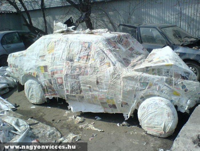 Papír autó