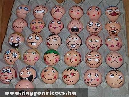 Tojás arcok