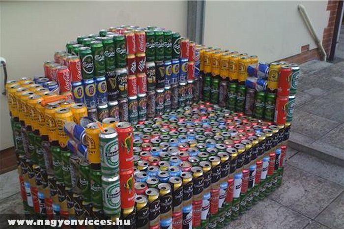 Fotel dobozos sörbõl