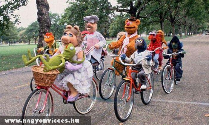 Muppet show biciklin