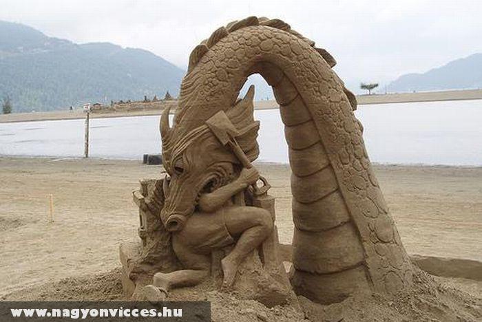 Remekmû homokból