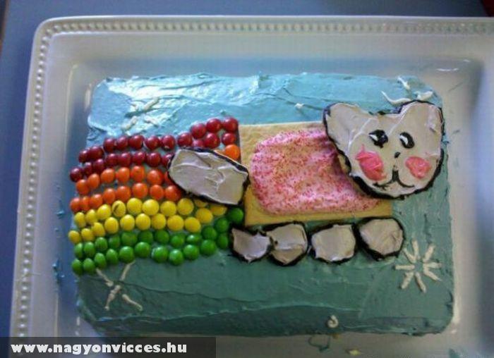 Nyan cat torta