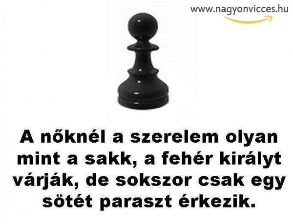 A szerelem hasonlít a sakkhoz :D
