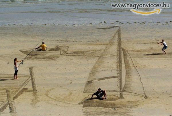 Homokrajz a tengerparton