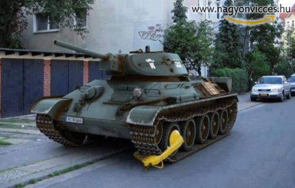 Kerékbilincs tank edition