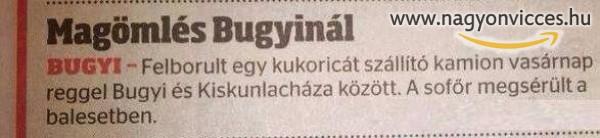Magömlés Bugyinál