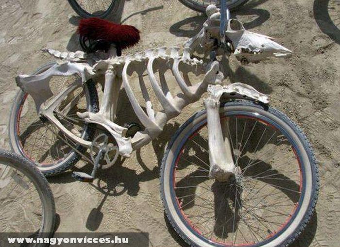 Csontvázból bicikli