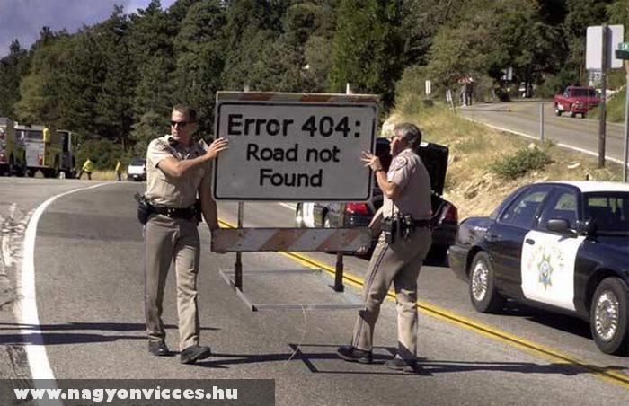 404-es hiba az úton