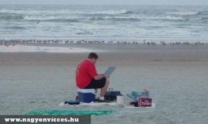 Szörf a tengerparton