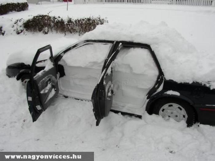 Esett némi hó