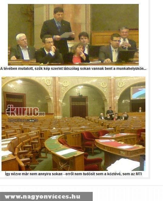 A parlament atmoszférája - nagy melózás közben :D