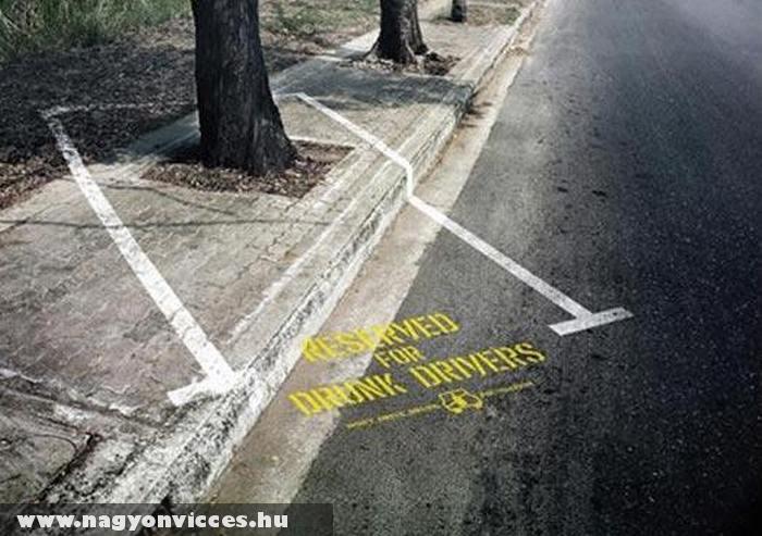 Parkoló ittas vezetõknek