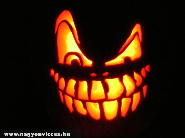 Vicces Halloweeni tök