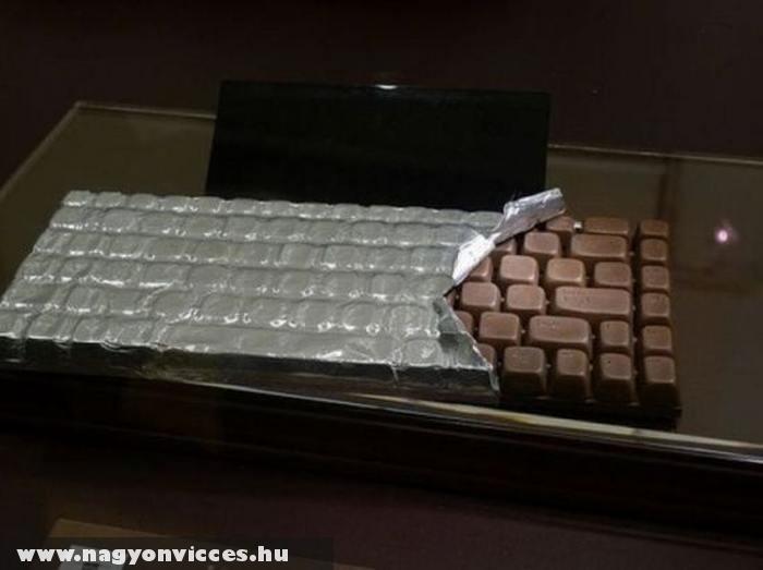Billentyûzet csokiból
