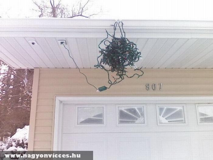 Vicces karácsonyi dekoráció