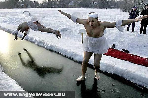 Fejest ugrani a hideg vízbe - kemény!
