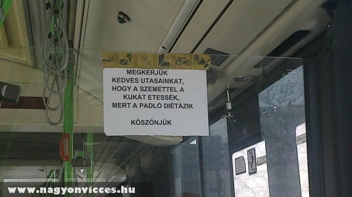 A buszvezetõ üzent!