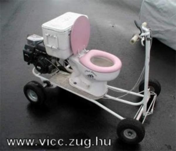 Mobil WC élelmes munkás gyerekeknek!