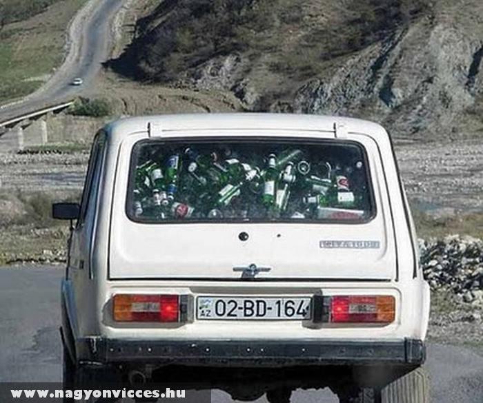 Jól megpakolt autó