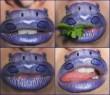 Vízilónak festett száj