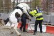 Rendőr és lovasa - felfordulás